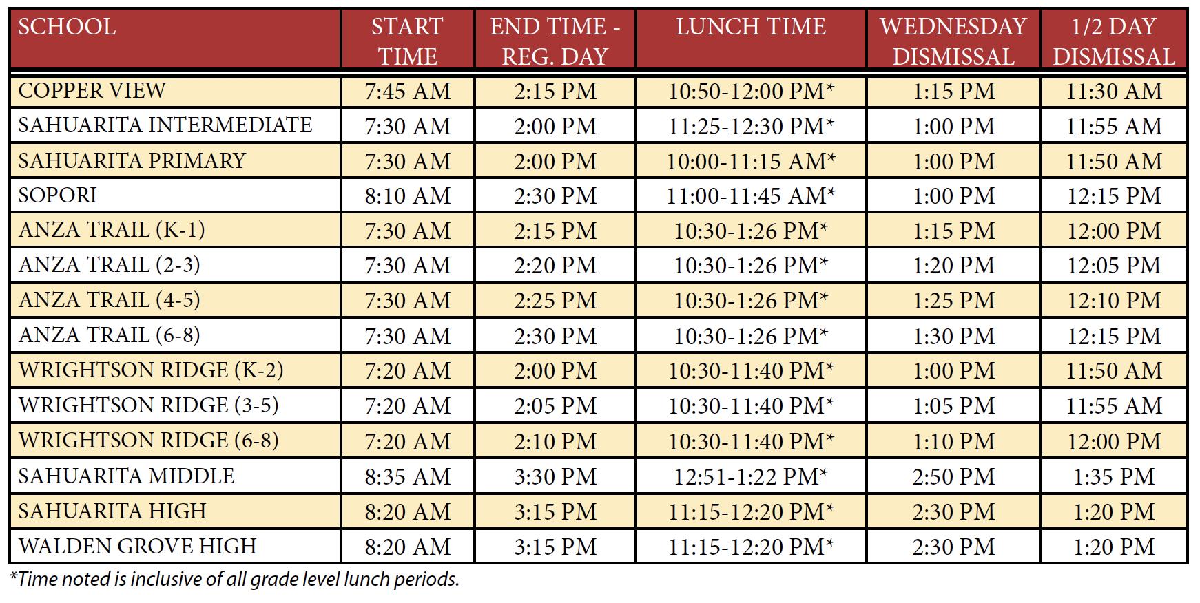 Sahuarita Unified School District Calendar & Events