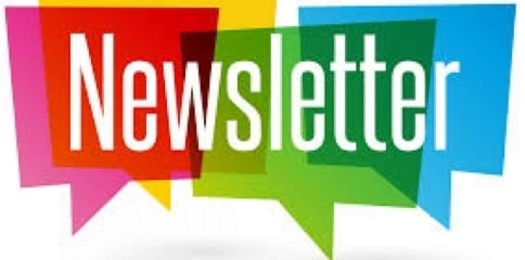 Colored speech box and newsletter