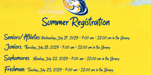 Summer registration is required for all Sahuarita High School Students.